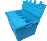 Heavy Duty Turnover Crate Used Nesting Plastic Storage Box with Lid