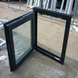 Blue Color Profile Double Glazing Glass UPVC Window