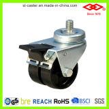 Black Nylon Twin Wheel Caster (L190-20B050X17DS)