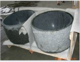 Grey Landscaping Stone Flower Pot