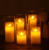 Battery Operated Pillar Candles, Church LED Flameless Candle, Flameless Candles with Remote Timer Flickering