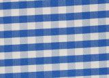 Royal/White Checks Twill CVC Yarn Dyed Fabric Shirting