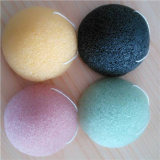 100% Original Pure Natural Cleansing Green Tea and Bamboo Charcol Konjac Sponge Puff