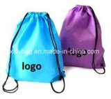 Double Side Fashion Polyester Drawstring Bag Backpack