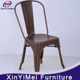 Industrial Side Chair Vintage Metal Dining Chair Timber Seat