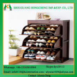 Wooden Color Modern Shoe Cabinet
