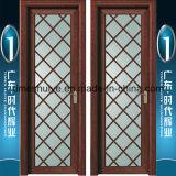 Frosted Glass Aluminium Casement Bathroom Doors for Interior Decoration