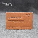 Custom Embossed Logo PU Leather Patch for Handbag