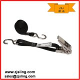 """1"""" Wire Hooks Stainless Ratchet Strap 1"""" X 10′ Black"""