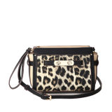 Metal Ornament Charming Leopard Crossbody Bag (MBNO040018)