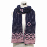 Fashion Acrylic Knitted Long Scarf (YKY4359)