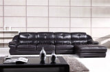 Black Leather Sofa Modern Home Furniture (HX-FZ024)