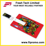 Credit Card Style USB Flash Drive with Logo (D607)