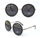 Sunglass of Acetate Material with Metal Temples