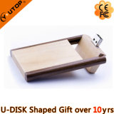 Super Slim Rotating Wood USB Flash Stick for Presentation (YT-8121)