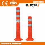 Orange PU Plastic Flexible Traffic Safety Spring Post