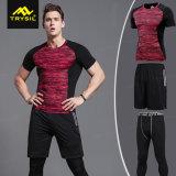 Mens Tight Tops, Shorts & Long Legging Pants 3 Piece Sets