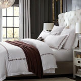 Wholesale Hotel Collection White Cotton Sateen Hotel Embroidery Bedding Set