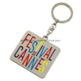 Custom Metal Festival Cannes Keychain with Letter Logo