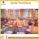 Resin Plastic Crystal Clear Chiavari Tiffany Chair for Wedding Events