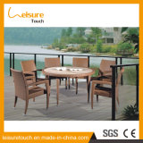 Outdoor Garden Furniture All Weather Wicker Rattan 6 Seater Dining Furniture Table Set
