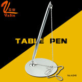 Promotional Silver Metal Stand/Table Ball Pen with Bank Office