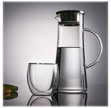 Large Capacity Water Pitcher/Carafe with Stailess Steel Lid and Handle