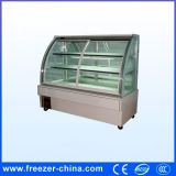White and Black Arc Glass Door Cake Display Chiller Showcase
