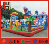 Underwater World Theme Giant Inflatable Jumping Bouncer Combo for Park