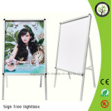 Silvery Aluminum Frame Double Sided Poster Stand
