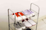 Adjustable Chrome DIY Modern Shoe Shelf Rack (CJ-C1111)