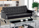 Popular Classical Hotel Chair Office Leather Sofa with Stainless Frame 8805/8809
