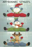 Santa, Snowman and Moose Doorstopper Christmas Decoration Gift