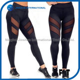 Women′s Compression Tights Pants Perspective Mesh Running Fitness Leggings