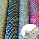 Upper Material Glitter Leather for Footwear (HST032)