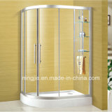Hotel Sanitary Ware Temper Glass Shower Enclosure (NJ-035A)