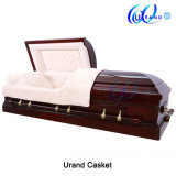 Competitive Best Price Funeral Burial Half Couch Coffin and Casket