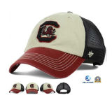 High Quality Embroidery Logo 6 Panels School Trucker Cap with Snap Back Mesh Cap