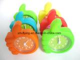 Creative Kid′s Cute Finger Shape Candy Color Silicone Mini Table Alarm Clock