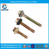 Zinc Plated Hex Flange Head Self-Drilling Screw with EPDM Washer