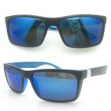 Fashion Sports Design PC Sunglasses with Blue Mirror/Revo