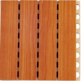 Fireproof Veneer Grooved Wooden Acoustic Wall