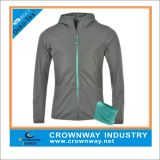 Hooded Cross Zoning Warm Cell Running Jackets with Detachable Scarf