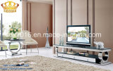 Stainless Steel Frame and Glass on Top TV Stand Sj890