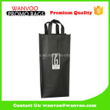 Black Reusable Protect Nonwoven Single Wine Bottle Bag Holder