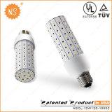 Aluminum Fin-Shape Heat Sink 12W SMD3528 LED Corn Light