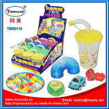 Plastic Cup Toy with Small Surprise Toy and Candy Inside