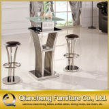 New Style Tempered Glass Bar Table with Bar Chairs