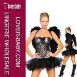 Black Dark Sexy Halloween Angel Costume (L1152)