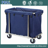 Stainless Steel Cleaning Service Laundry Linen Maid Trolley Hotel Housekeeping
